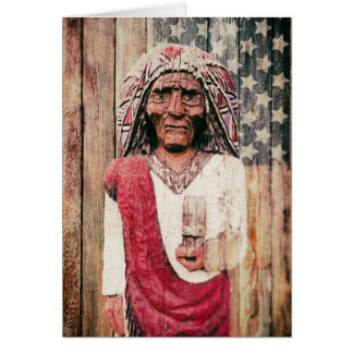 Wooden Antique Cigar Store Indian Cards