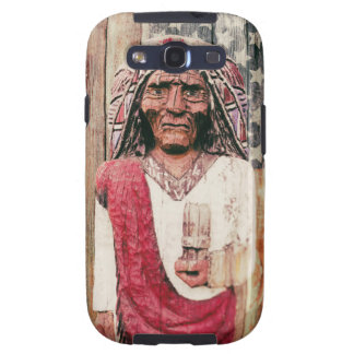 Wooden Antique Cigar Store Indian Galaxy S3 Cases
