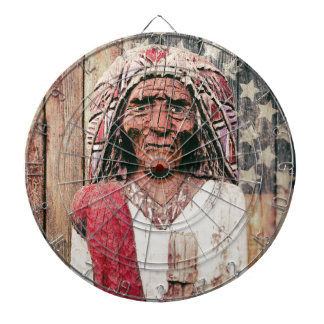Wooden Antique Cigar Store Indian Dartboards