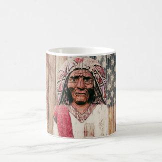 Wooden Antique Cigar Store Indian Mug