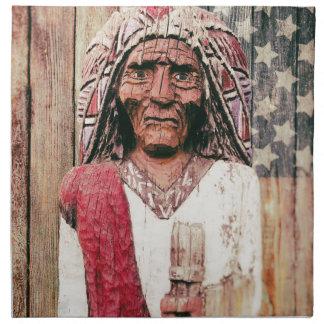 Wooden Antique Cigar Store Indian Napkin