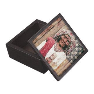 Wooden Antique Cigar Store Indian Premium Jewelry Box