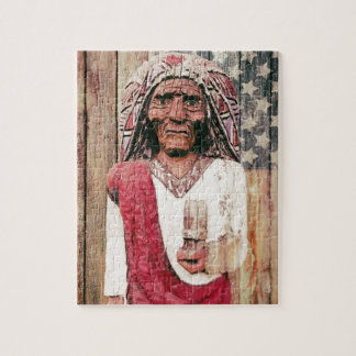 Wooden Antique Cigar Store Indian Jigsaw Puzzles