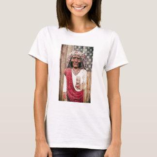 Wooden Antique Cigar Store Indian T-Shirt