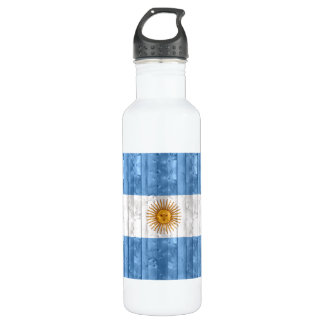 Wooden Argentinean Flag 24oz Water Bottle