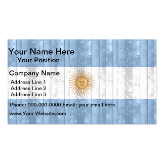 Wooden Argentinean Flag Double-Sided Standard Business Cards (Pack Of 100)