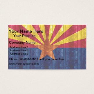 Wooden Arizonan Flag Business Card