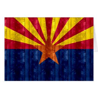 Wooden Arizonan Flag Greeting Cards