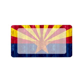Wooden Arizonan Flag Labels