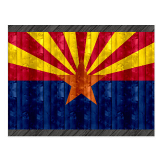 Wooden Arizonan Flag Postcard