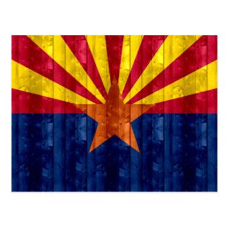 Wooden Arizonan Flag Postcard