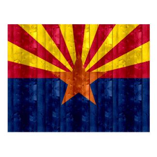 Wooden Arizonan Flag Post Cards