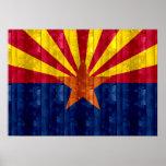 Wooden Arizonan Flag Poster