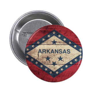 Wooden Arkansas Flag Button