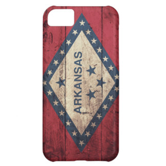 Wooden Arkansas Flag Cover For iPhone 5C