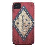 Wooden Arkansas Flag iPhone 4 Case