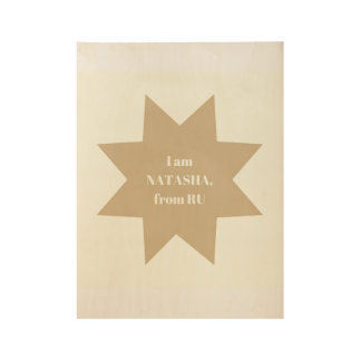 Wooden art : For Natasha Wood Poster