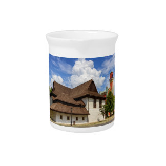 Wooden articular church in Kezmarok, Slovakia Beverage Pitchers