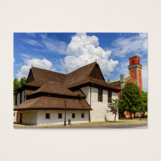 Wooden articular church in Kezmarok, Slovakia Business Card