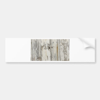 wooden background bumper sticker