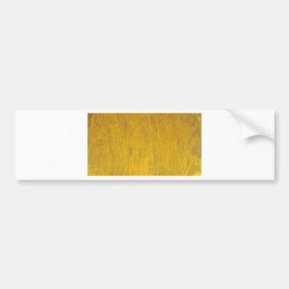 wooden background bumper sticker