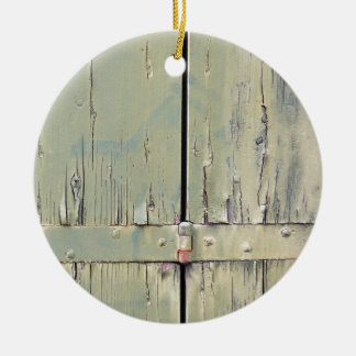 wooden background ceramic ornament