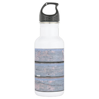 wooden background stainless steel water bottle