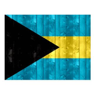 Wooden Bahamian Flag Postcard