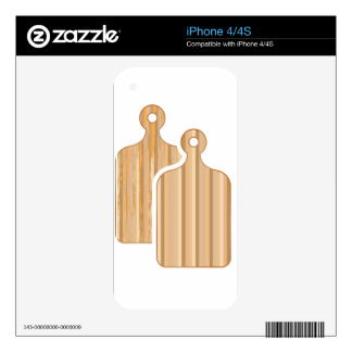 Wooden Bamboo cutting boards iPhone 4 Skins