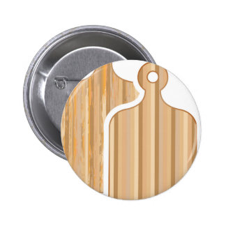 Wooden Bamboo cutting boards Pinback Button