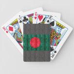 Wooden Bangladeshi Flag Bicycle Playing Cards