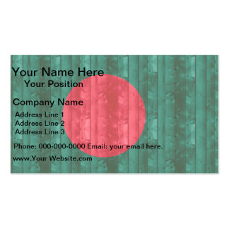 Wooden Bangladeshi Flag Double-Sided Standard Business Cards (Pack Of 100)