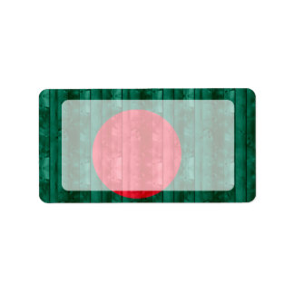 Wooden Bangladeshi Flag Label