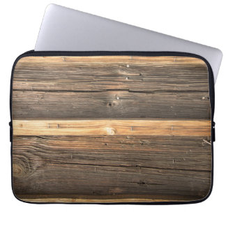 Wooden bar Realistic Texture laptop Sleeve