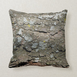 Wooden Bark Throw Pillow