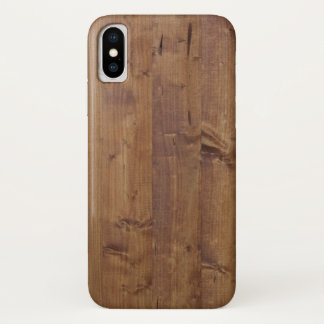 Wooden Barks, Wooden Boards, Planks - Brown iPhone X Case