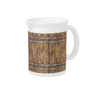 Wooden Barrel Art 1 Pitcher