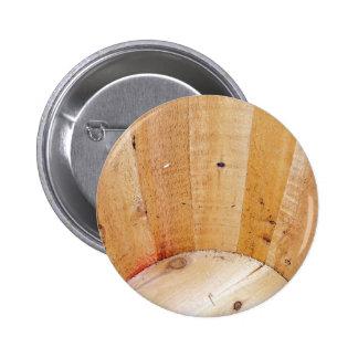 Wooden Barrel Pinback Button