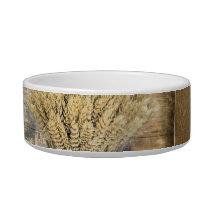 Wooden Barrel western country horseshoe wheat Bowl