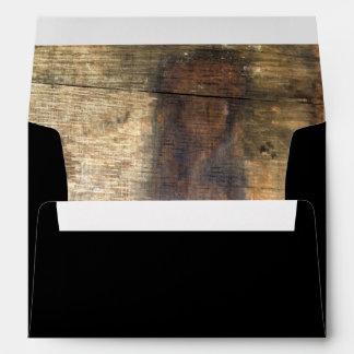 Wooden Barrel western country horseshoe wheat Envelope