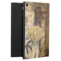 Wooden Barrel western country horseshoe wheat iPad Air Case