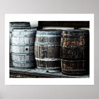 Wooden Barrels, Kegs Poster