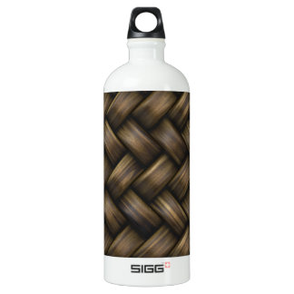 Wooden Basket Weave Aluminum Water Bottle