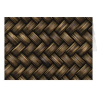 Wooden Basket Weave Card