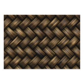 Wooden Basket Weave Large Business Card