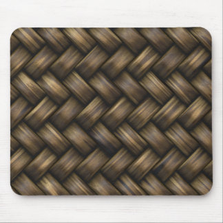 Wooden Basket Weave Mouse Pad