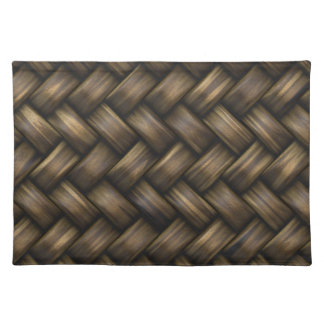 Wooden Basket Weave Placemat