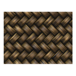 Wooden Basket Weave Postcard