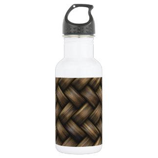 Wooden Basket Weave Stainless Steel Water Bottle