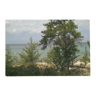 wooden beach placemat